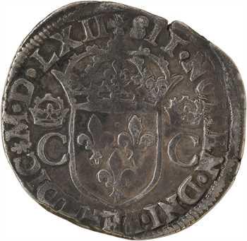 Charles IX, teston 2e type, 1562 Nantes