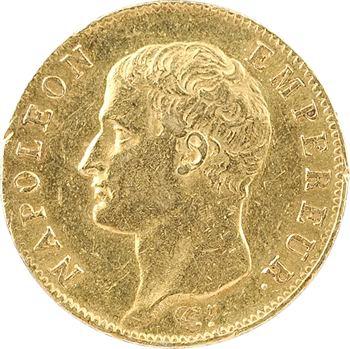 Premier Empire, 20 francs tête nue, calendrier grégorien, 1806 Paris