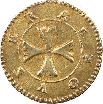 Charles IX (ou 2e moitié XVIe s.), denier à épouser en vermeil