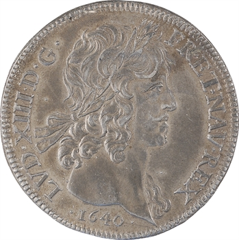 Louis XIII, dix louis d'or, cliché uniface d'avers en étain, [1640] XIXe siècle, Paris