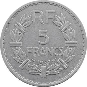 IVe République, 5 francs Lavrillier aluminium, 1952 Paris