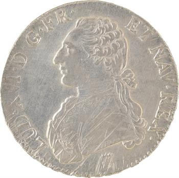 Louis XVI, écu aux rameaux d'olivier, 1790 Limoges