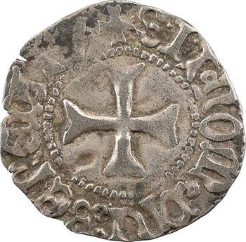 Bretagne (duché de), François Ier, demi-blanc à la targe, s.d. Rennes