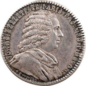 Paris, Faculté de Médecine, J.-J. Belleteste, doyen,  revers de Léonard Joubert du Collet, maire de Nantes, 1762-1763
