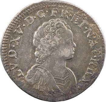 Louis XV, quart d'écu dit Vertugadin, 1717 Montpellier