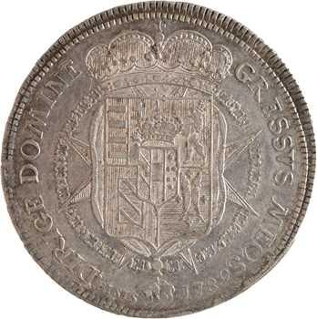 Italie, Toscane (Grand-Duché de), Pierre Léopold, Francescone, 1789 Florence