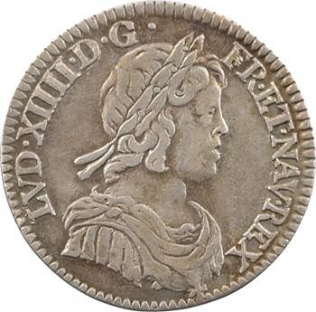 Louis XIV, douzième d'écu à la mèche courte, 1644 Paris (point)