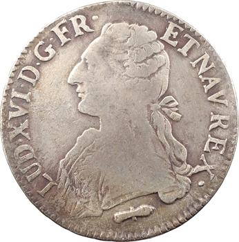Louis XVI, écu aux branches d'olivier, 1789 Perpignan