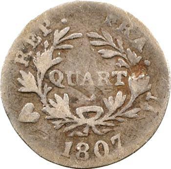 Premier Empire, quart de franc, 1807 Turin