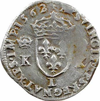 Charles IX, demi-teston 4e type, 1562 Bayonne