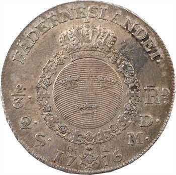 Suède, Gustave III, 2/3 de rixsdaler, 1776 Stockholm