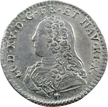 Louis XV, dixième d'écu aux rameaux d'olivier, 1726 Orléans
