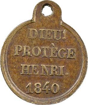 Henri V, sa majorité, 1840