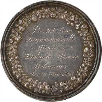 Premier Empire, prix de la bonne fille, par Gatteaux, transformée en médaille de mariage, 1813 Paris