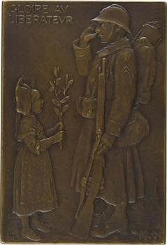 Nocq (H.) : Exposition Nationale de Strasbourg, Comité français des expositions, d'après Hansi, 1919 Paris