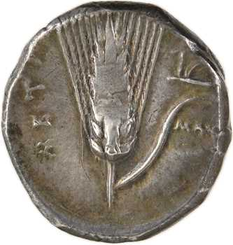 Lucanie, Métaponte, didrachme, c.330-300 av. J.-C