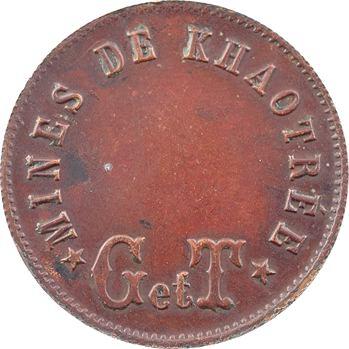 Siam, Rama V, mines de Khaotrée, cuivre rouge, s.d. (1880)