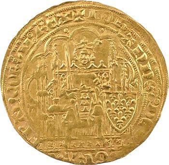Jean II le Bon, écu d'or à la chaise, 3e émission