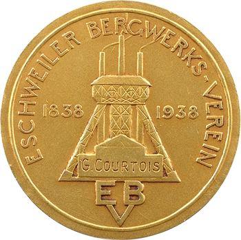 Allemagne, centenaire de la mine Eschweiler Bergwerks-Verein, par P.-V. Dautel, 1838-1938