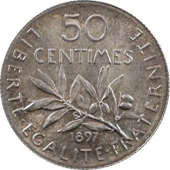IIIe République, 50 centimes Semeuse, 1897 Paris