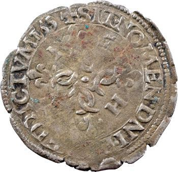 Henri II, Douzain aux croissants, 155 (sic) La Rochelle