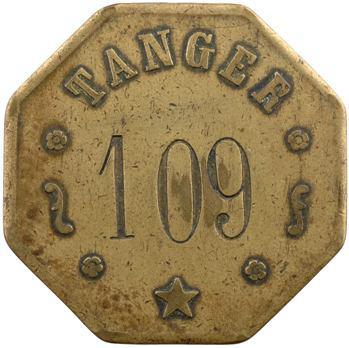 Maroc, Tanger, jeton de la Banque d'État, N° 109, s.d