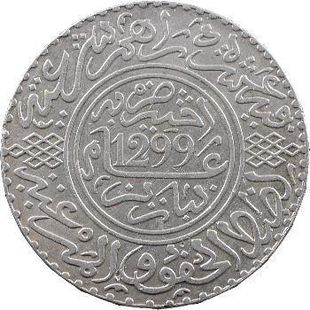 Maroc, Hassan Ier, 10 dirhams, 1299 de l'Hégire, Paris