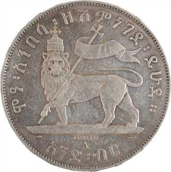 Éthiopie (Empire d'), Ménélik II, birr, EE 1887 (1894) Paris