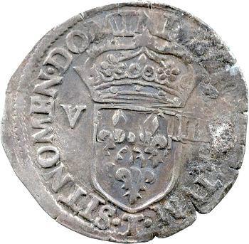 Henri III, Huitième d'écu croix de face, 15?? Nantes