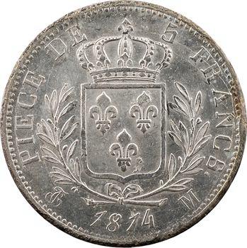 Louis XVIII, 5 francs buste habillé, 1814 Toulouse