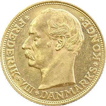Danemark, Frédéric VIII, 20 kroner, 1908 Copenhague