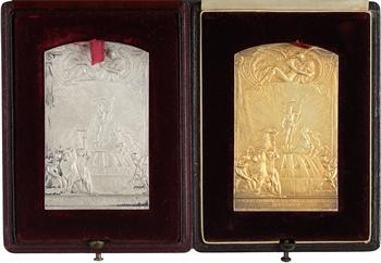 Espagne, Société Lyonnaise des Eaux et de l'Éclairage (Barcelone et Valence), en argent, la paire, 1904 et 1907