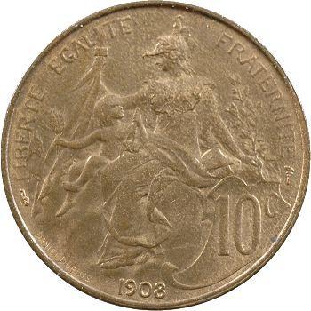 IIIe République, 10 centimes Daniel-Dupuis, 1908 Paris