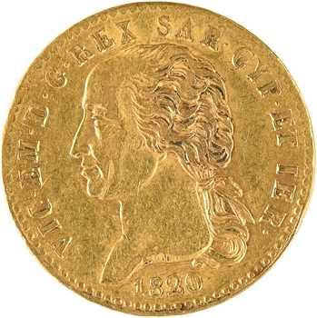 Italie, Savoie-Sardaigne, Victor-Emmanuel Ier, 20 lire, 1820 Turin