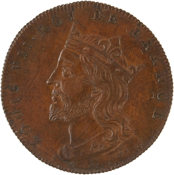 Louis VII, Série des Rois de France, n° 40, s.d. Paris