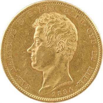 Italie, Savoie-Sardaigne, Charles-Albert, 100 lire, 1834 Turin