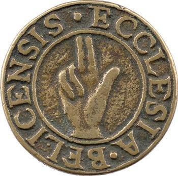Bugey/Bresse, Belley (dpt de l'Ain), méreau coulé du chapitre de la ville, s.d