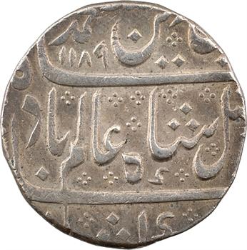Indes françaises, Louis XVI et Shah Alam II, roupie, AH 1189/14 (1775) Arcate
