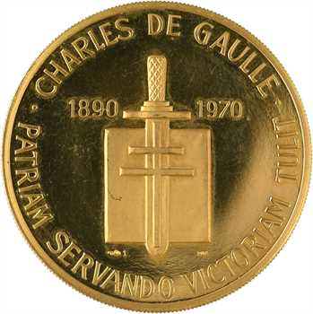 Ve République, Charles De Gaulle, en Or, 1970 Paris