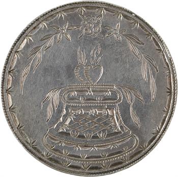 Directoire, médaille de mariage en taille directe, 1796
