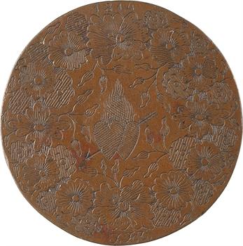 Premier Empire, module de 2 sols transformé en médaille de mariage, 1814