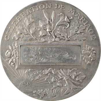 Bottée (L.) : médaille de mariage (bénédiction nuptiale), en argent, 1895 Paris