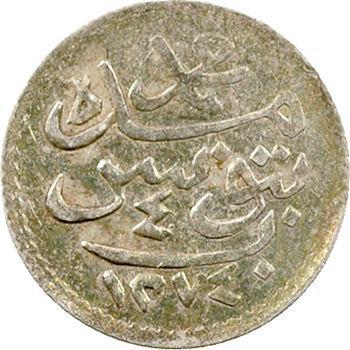 Tunisie, Mohammed Bey, 4 kharoub, AH 1274 (1857) Tunis
