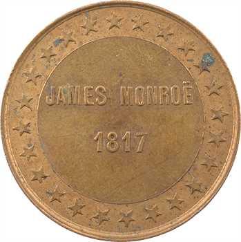 États-Unis, module de 10 centimes, élection du Président James Monroe, 1817