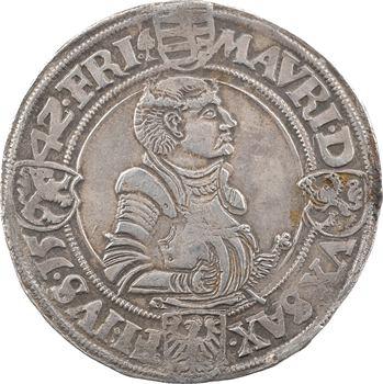 Allemagne, Saxe (duché de), Jean Frédéric Ier et Maurice, thaler, 1542 Freiberg