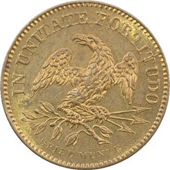 États-Unis, le général Washington, jeton, s.d. (c.1860) Nuremberg