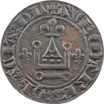 Moyen-Âge, jeton de compte au châtel tournois, s.d. Tournai