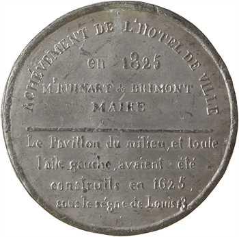 IIe république, achèvement de l'Hôtel de ville, 1825 Reims