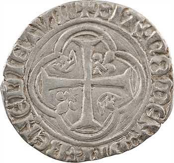 Charles VIII, blanc à la couronne, avant 1490 ?, Troyes