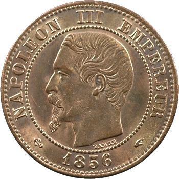 Second Empire, deux centimes tête nue, 1856 Paris